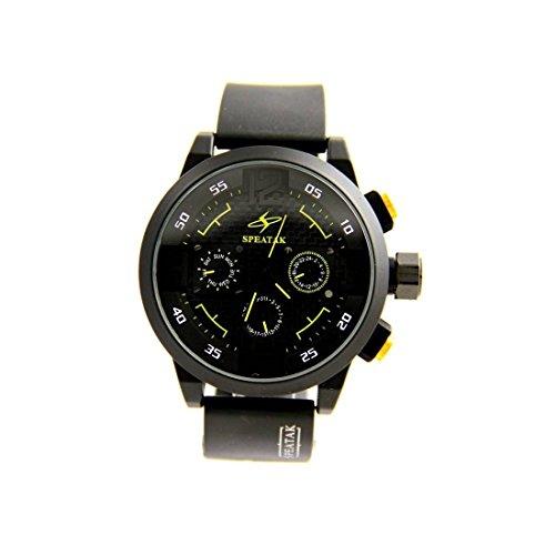 Herrenuhr mit Armband Silikon Schwarz Speatak 2957