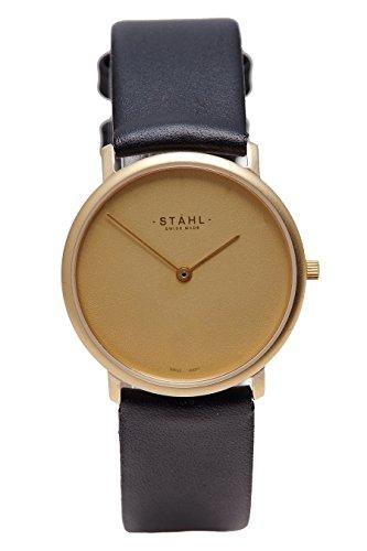 Stahl Swiss Made Armbanduhr Modell st61110 vergoldet klein 27 mm Fall Uni gold Zifferblatt