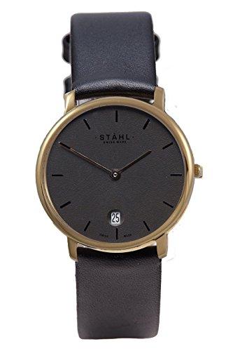 Stahl Swiss Made Armbanduhr Modell st61422 Edelstahl mittlere 30 mm Fall Bar Silber Zifferblatt
