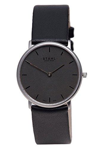 Stahl Swiss Made Armbanduhr Modell st61322 Edelstahl mittlere 30 mm Fall Bar Silber Zifferblatt