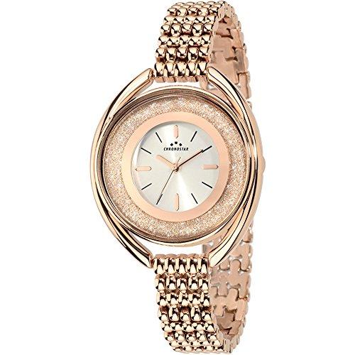 Chronostar Uhren Glitter Kristalle Silber Rose Gold R3753259502