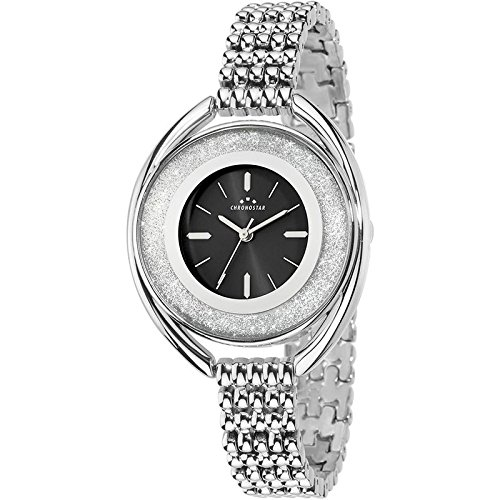 Chronostar Uhren Glitter Schwarz R3753259503 Kristalle