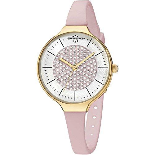Chronostar Uhren Toffee Gold Angeln R3751248511 Kristalle