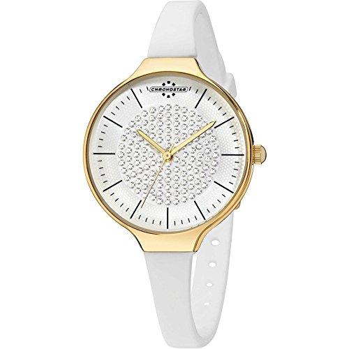 Chronostar Uhren Toffee Gold weissen Kristallen R3751248510