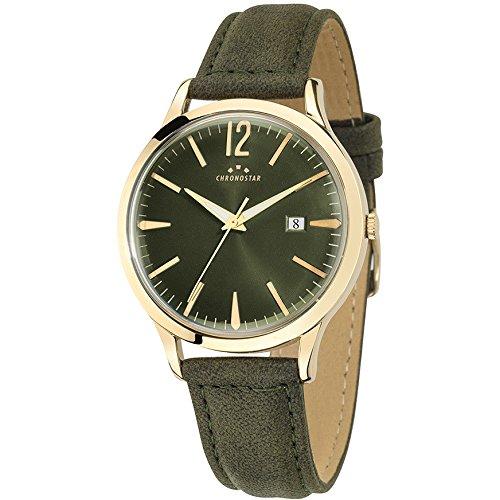 Chronostar Uhren Mann Charles gruen Leder Gold R3751256004