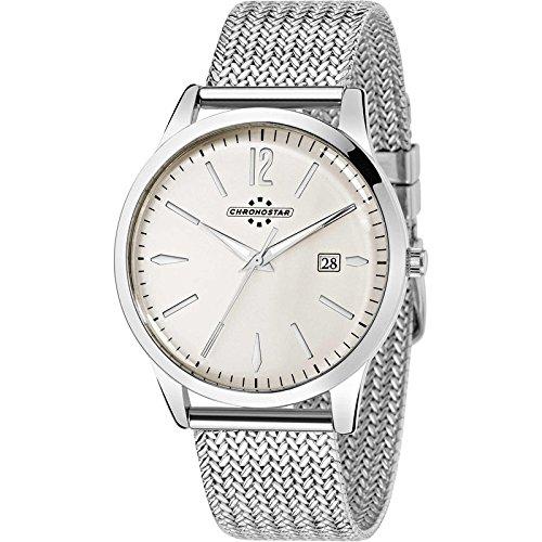 Chronostar Uhren England Stahl Elfenbein R3753255004