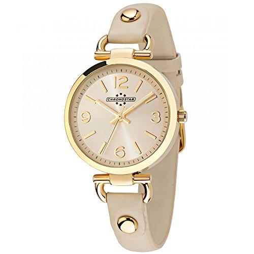 Chronostar Uhren Koenigin nur Zeit Rotgold R3751239509 Creme