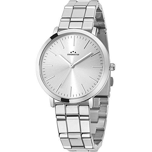 Chronostar Uhren Synthese Silber R3753258502 Stahl