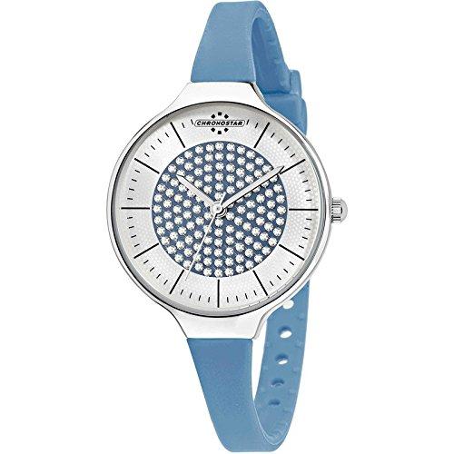 Chronostar Uhren blau Toffee R3751248514 Kristalle