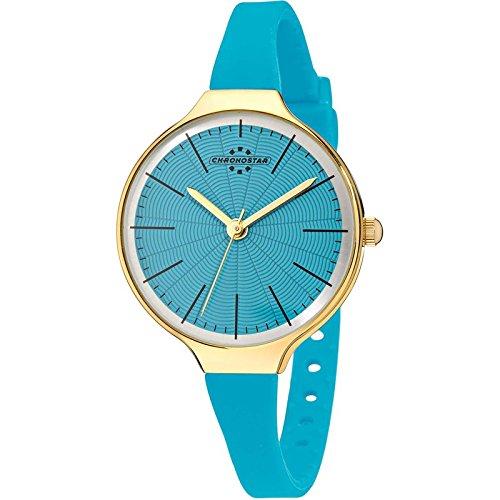 Chronostar Uhren Toffee nur Zeit Gold Gruen R3751248509