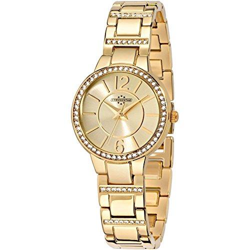 Chronostar Uhren Wunsch Gold mit Strass R3753247505
