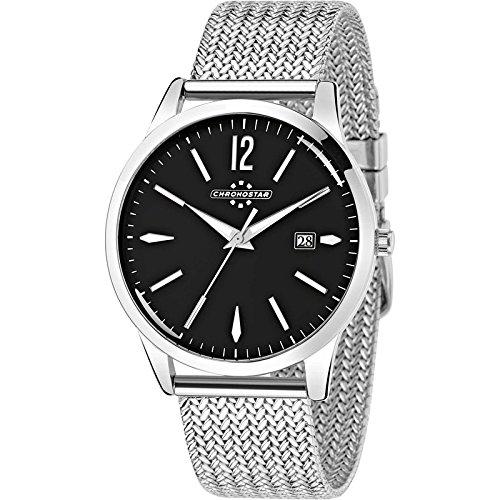Chronostar Watch England Stahl schwarz R3753255003