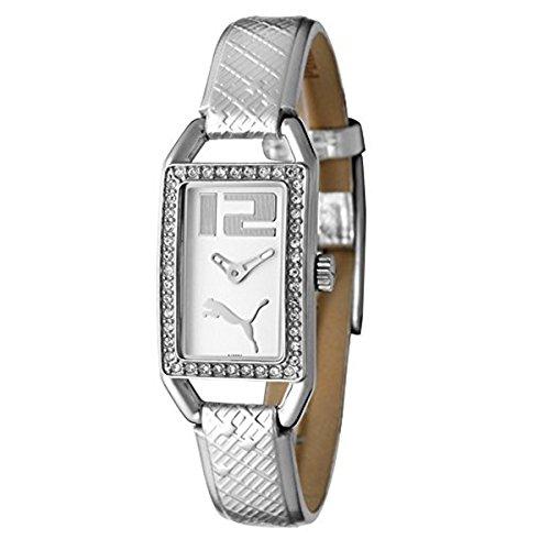 Puma Uhr Armbanduhr Damen White Crystal Shiny Silver PU101662001