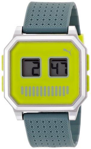 Puma Time Damen Armbanduhr Wrist robots lime Digital Quarz Kautschuk PU910951014