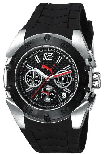 Puma Time XL Crash Silver Chronograph Quarz Kautschuk PU102171001
