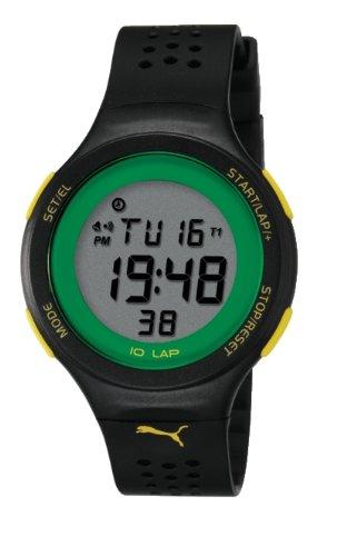 Puma pu910931001 Armbanduhr Quarz Digital Zifferblatt Grau Armband Silikon Schwarz