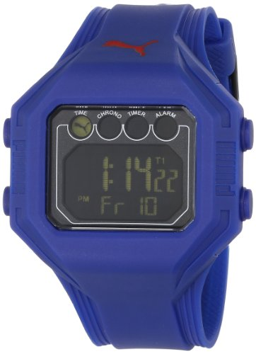 PUMA Herren PU910771005 Bounce L Deep Blue und Black Dial Digitaluhr