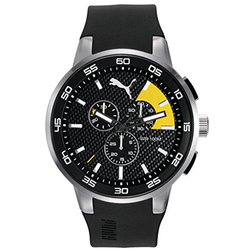 Puma Time 10416 SILVER BLACK YELLOW Chronograph Quarz Plastik PU104161003