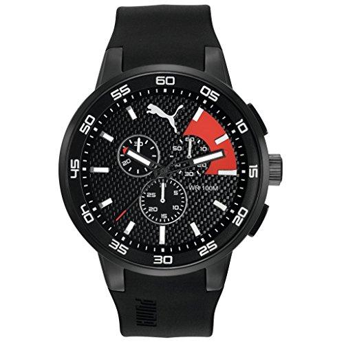 Puma Time 10416 BLACK RED Chronograph Quarz Plastik PU104161001