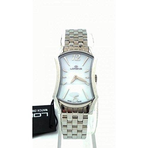 Uhr Lorenz Blue Moon 023534 FF Quarz Batterie Stahl Quandrante Perlmutt Armband Stahl