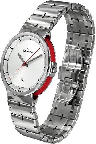 Uhr Lorenz Neos 025720bb Quarz Batterie Stahl Quandrante Stahl Armband Edelstahl