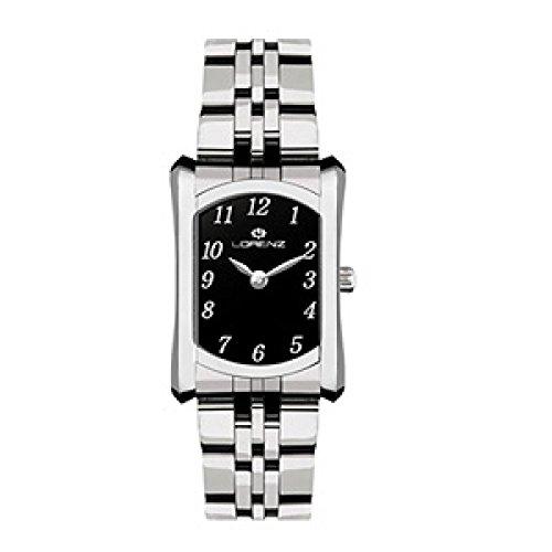 Uhr Lorenz Damen 027169bb Quarz Batterie Stahl Quandrante schwarz Armband Stahl