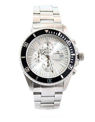 Lorenz Uhr Crono 27184 AA stahl Chronograph Sub Professional Listenpreis 359 gecomarket