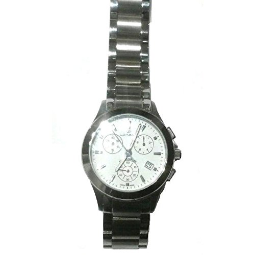 Uhr Lorenz Herren 024770 Quarz Batterie Stahl Quandrante weiss Armband Stahl
