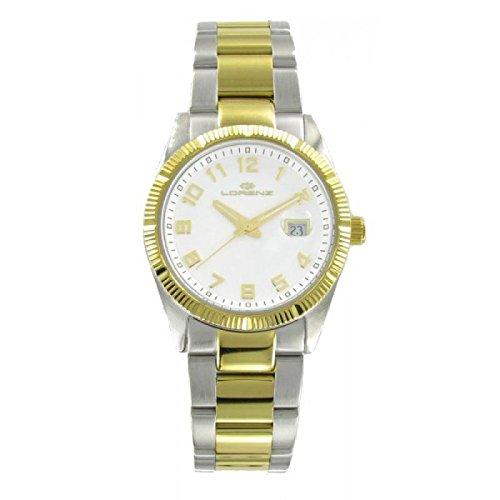 Uhr Lorenz Damen 027065 AA Quarz Batterie Stahl Quandrante weiss Armband Stahl