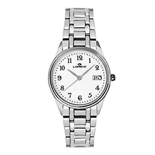 Uhr Lorenz Damen 027163 AA Quarz Stahl Quandrante weiss Armband Stahl