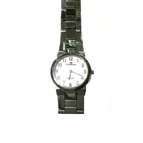 Uhr Lorenz Montenapoleone 024916 Quarz Batterie Stahl Quandrante weiss Armband Stahl