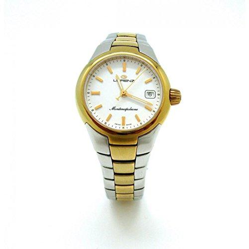Uhr Lorenz Montenapoleone 024947 AA Quarz Batterie Stahl Quandrante weiss Armband Stahl