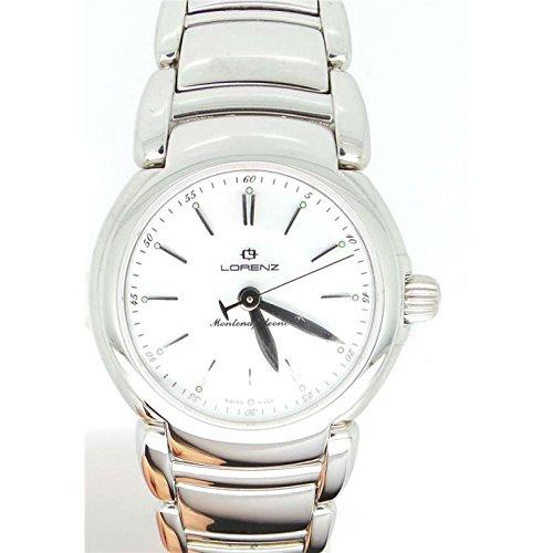 Uhr Lorenz Montenapoleone 025617 AA Quarz Batterie Stahl Quandrante weiss Armband Stahl