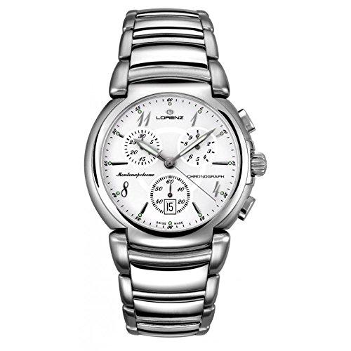 Uhr Lorenz Montenapoleone 025621 AA Quarz Batterie Stahl Quandrante weiss Armband Stahl