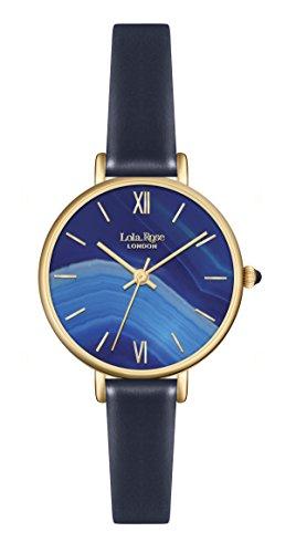 Lola Rose Damen Quarzuhr LR2036 mit Zifferblatt analog Blau und Lederband Blau