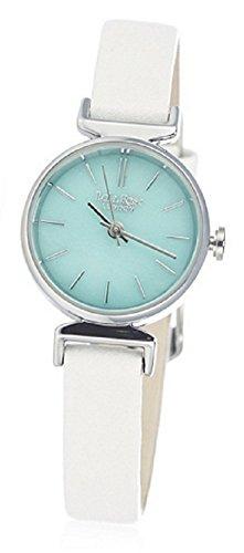Lola Rose Semi Precious Edelstein Uhr mit Lederband Weiss Amazonit