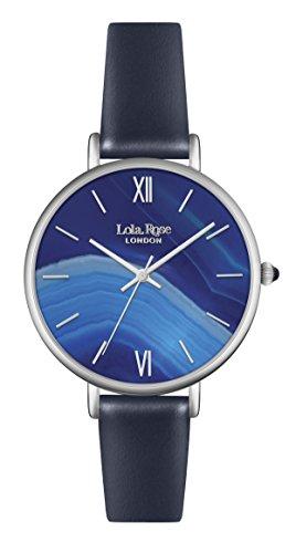 Lola Rose Damen Quarzuhr mit Blau Zifferblatt Analog Display und Blau Lederband lr2015