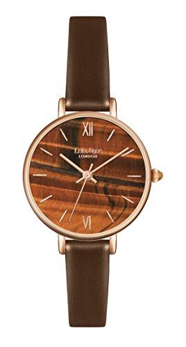 Lola Rose Damen Quarz Uhr mit Braun Zifferblatt Analog Anzeige und braunem Lederband lr2046