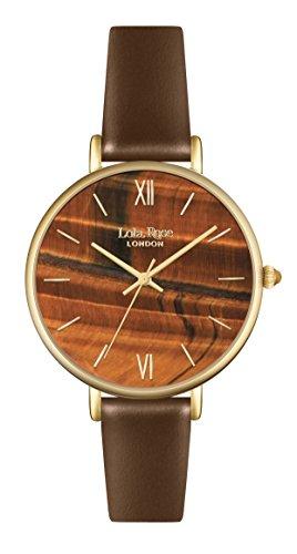 Lola Rose Damen Quarz Uhr mit Braun Zifferblatt Analog Anzeige und braunem Lederband lr2030