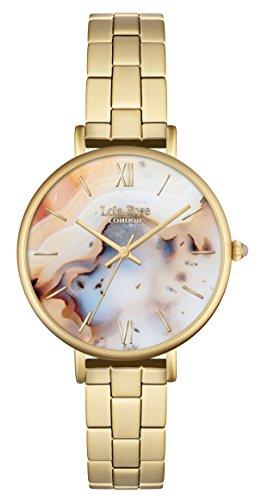 Lola Rose Damen Quarzuhr mit Zifferblatt Analog Anzeige und Gold Legierung Armband lr4004
