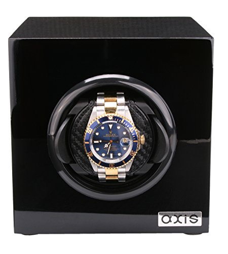 AXIS Holz Uhrenbeweger axww 1015bl schwarz glaenzend