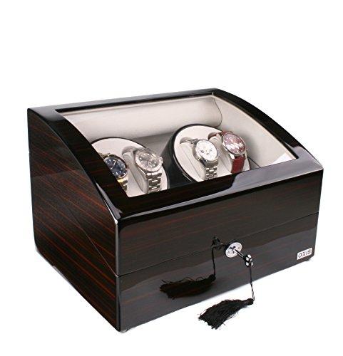 AXIS Ebenholz Luxus automatische 4 Uhrenbeweger mit 5 Armbanduhr Speicher