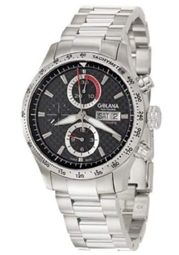 Golana Herren-Armbanduhr XL Advanced Pro Chronograph Automatik Edelstahl AD200-2