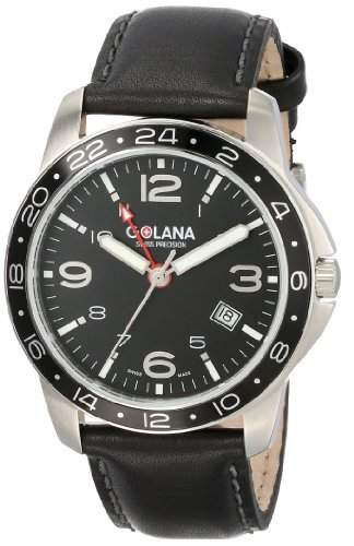 Golana Aero Pro Swiss made Dual Time Zone Watch Herrenuhr AE3001