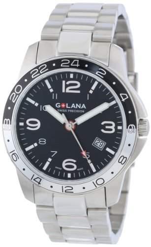 Golana Aero Pro Swiss made Dual Time Zone Watch Herrenuhr AE3002
