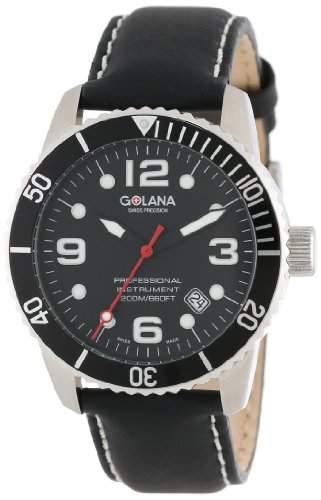 Golana Aqua Pro Swiss made Divers Watch Rotating Divers Bezel Herrenuhr AQ2001