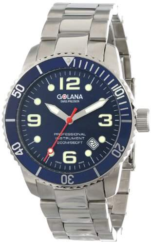 Golana Aqua Pro Swiss made Divers Watch Rotating Divers Bezel Herrenuhr AQ2004