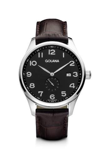 Golana Herren-Armbanduhr XL Classic Small Second Analog Leder CL100-2