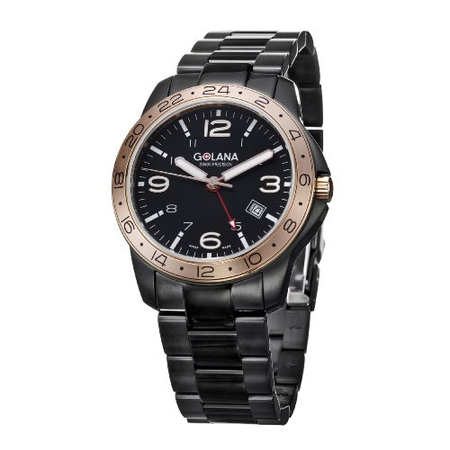 Golana Aero Pro 300 Swiss Made GMT Dual Time Zone Swiss Made AE 320 2