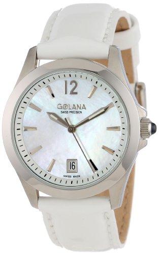 Golana Damen Armbanduhr XS Aura Analog Quarz Leder AU100 7